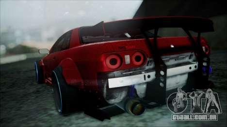 Nissan Skyline GT-R R32 Battle Machine para GTA San Andreas traseira esquerda vista