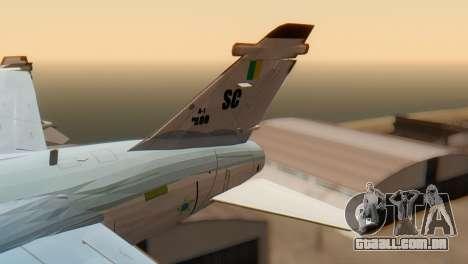 Embraer A-1 AMX FAB para GTA San Andreas traseira esquerda vista