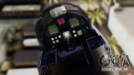 F-22J Japan Air-Self Defense Force para GTA San Andreas vista traseira
