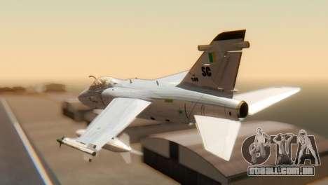 Embraer A-1 AMX FAB para GTA San Andreas esquerda vista