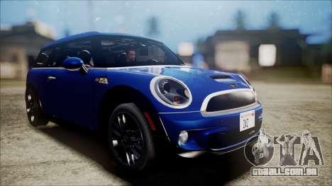 Mini Cooper Clubman 2011 Sket Dance para GTA San Andreas traseira esquerda vista