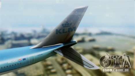 Airbus A330-200 KLM New Livery para GTA San Andreas traseira esquerda vista