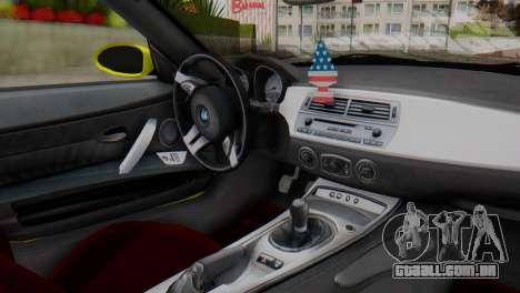 BMW Z4 Construção Ens para GTA San Andreas vista direita