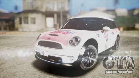Mini Cooper Clubman 2011 Sket Dance para GTA San Andreas vista inferior