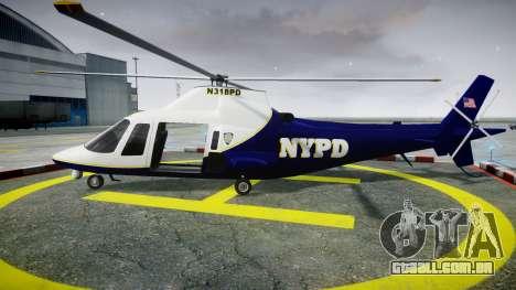 Buckingham Swift NYPD para GTA 4 esquerda vista