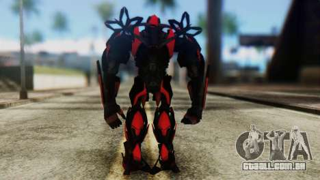 Stinger Skin from Transformers para GTA San Andreas terceira tela