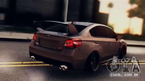 Subaru Impreza WRX STI 2015 para GTA San Andreas esquerda vista
