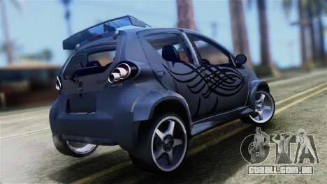Toyota Aygo Sporting para GTA San Andreas esquerda vista