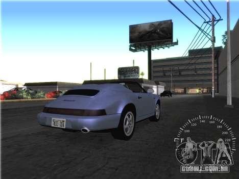 Simples velocímetro para GTA San Andreas por diante tela