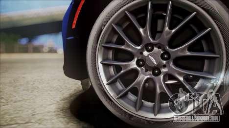 Mini Cooper Clubman 2011 Sket Dance para GTA San Andreas vista traseira