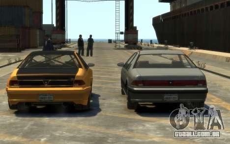 Vapid Fortune Drift para GTA 4 vista interior