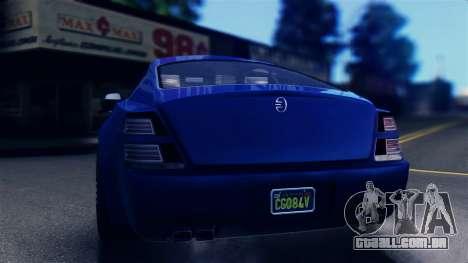 GTA 5 Enus Windsor IVF para GTA San Andreas traseira esquerda vista