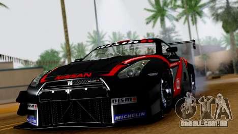 Nissan GT-R (R35) GT3 2012 PJ3 para GTA San Andreas vista traseira