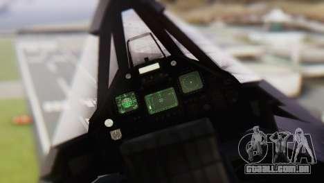 Lockheed F-117 Nighthawk ACAH para GTA San Andreas vista direita