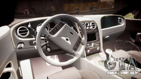 Bentley Continental GT Platinum Motorsports para GTA 4 vista interior