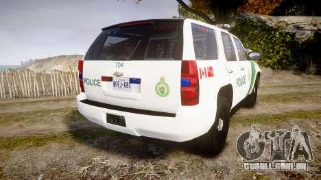 Chevrolet Tahoe Niagara Falls Parks Police [ELS] para GTA 4 traseira esquerda vista