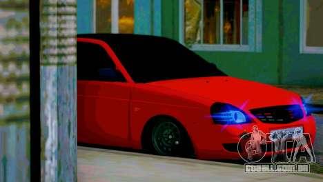 Lada 2170 Priora Spartak Moscovo para GTA San Andreas interior