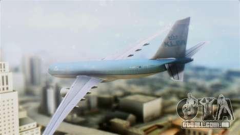 Airbus A330-200 KLM New Livery para GTA San Andreas esquerda vista