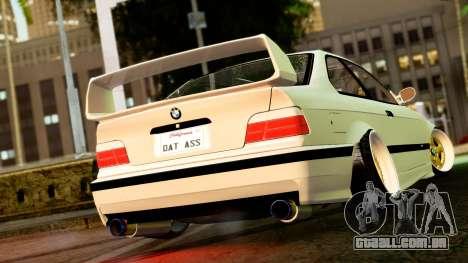 BMW M3 E36 Stance para GTA San Andreas esquerda vista