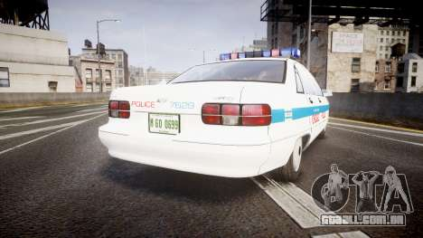 Chevrolet Caprice Chicago Police [ELS] para GTA 4 traseira esquerda vista