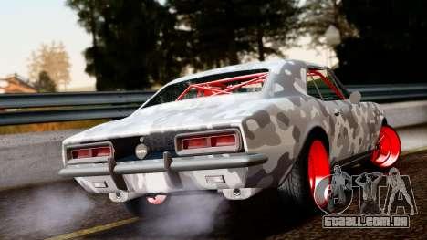 Chevrolet Camaro SS Camo Drift para GTA San Andreas esquerda vista