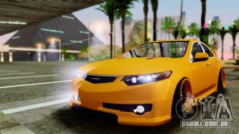 Acura TSX Hellaflush 2010 para GTA San Andreas esquerda vista