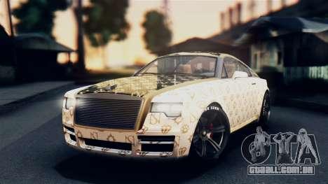 GTA 5 Enus Windsor IVF para GTA San Andreas vista interior