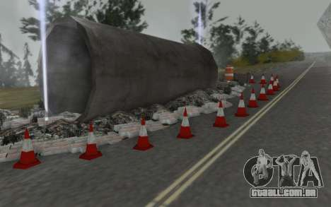 Estrada de reparação para GTA San Andreas por diante tela