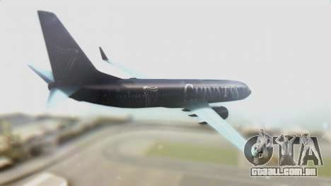 Boeing 737-800 Ryanair Guinness para GTA San Andreas esquerda vista