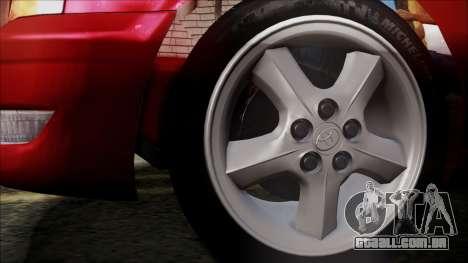 Toyota Chasher Tourer V para GTA San Andreas traseira esquerda vista