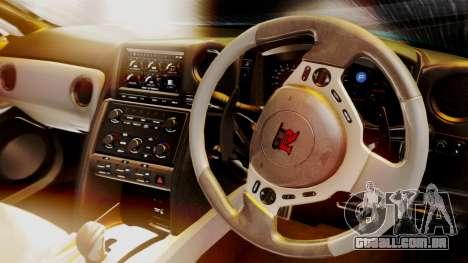 Nissan GT-R 2015 para GTA San Andreas vista traseira