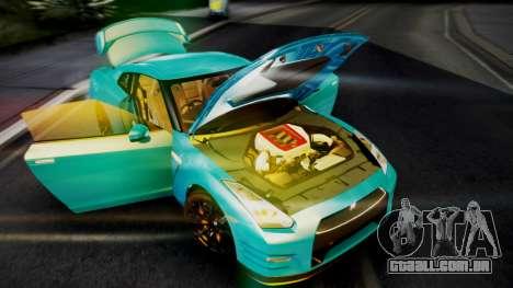 Nissan GT-R 2015 para GTA San Andreas vista interior