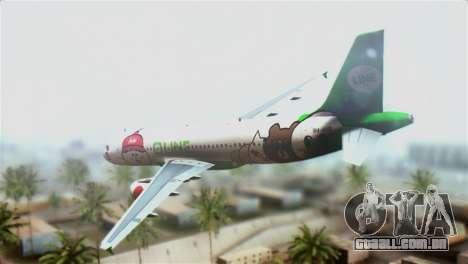Airbus A320-200 AirAsia Line para GTA San Andreas esquerda vista