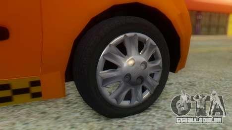 Tiba Taxi v1 para GTA San Andreas traseira esquerda vista