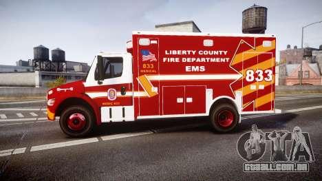 Freightliner M2 2014 Ambulance [ELS] para GTA 4 esquerda vista