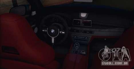 BMW X6M F86 para GTA San Andreas traseira esquerda vista