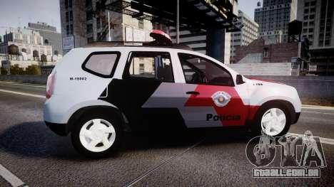 Lada Duster 2015 PMESP [ELS] para GTA 4 esquerda vista
