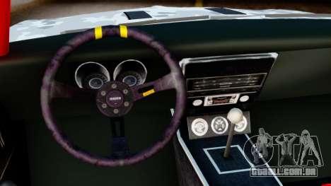 Chevrolet Camaro SS Camo Drift para GTA San Andreas vista direita