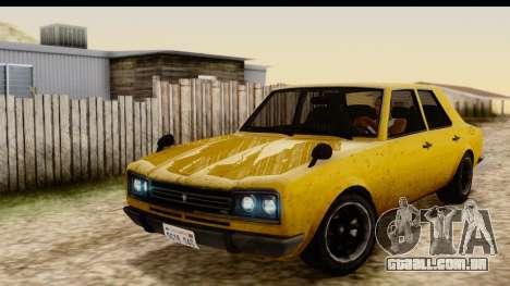 GTA 5 Vulcar Warrener SA Style para GTA San Andreas vista traseira