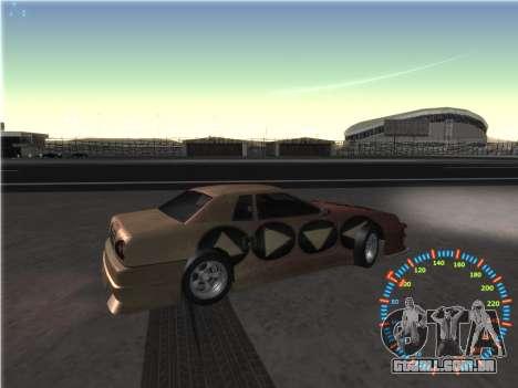 Simples velocímetro para GTA San Andreas sétima tela