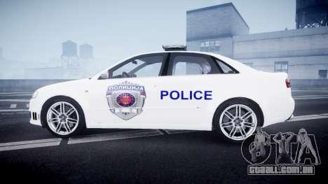 Audi RS4 Serbian Police [ELS] para GTA 4 esquerda vista