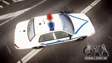 Ford Crown Victoria Indiana State Police [ELS] para GTA 4 vista direita