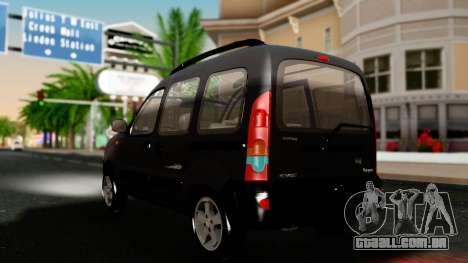 Renault Kangoo Sportway para GTA San Andreas traseira esquerda vista