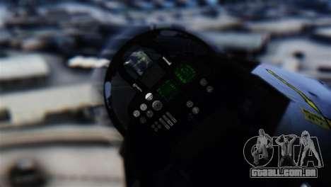 F-14D Super Tomcat Halloween Pumpkin para GTA San Andreas vista traseira