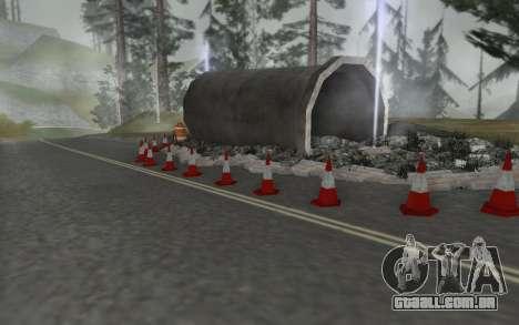 Estrada de reparação para GTA San Andreas terceira tela