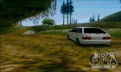 2114 Ala Dubai para GTA San Andreas traseira esquerda vista