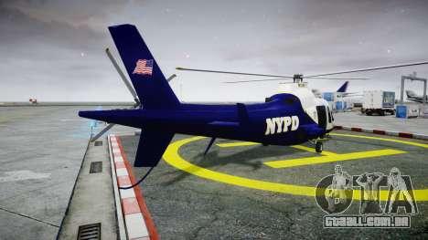 Buckingham Swift NYPD para GTA 4 traseira esquerda vista