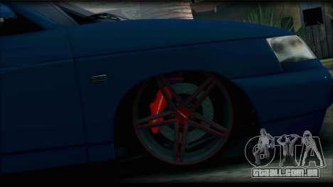 VAZ 2110 para GTA San Andreas traseira esquerda vista