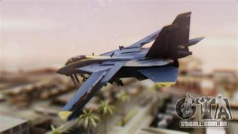 F-14A Tomcat Blue Angels para GTA San Andreas esquerda vista