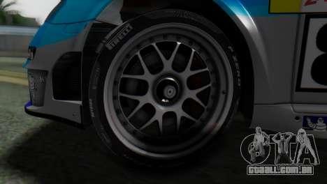 Porsche 911 GT3-RSR para GTA San Andreas traseira esquerda vista